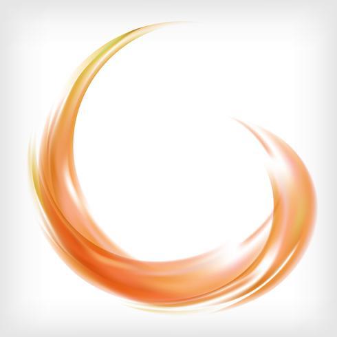 Abstract logo design in orange