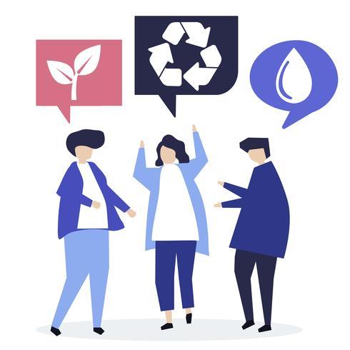 Persone con idee di conservazione ambientale