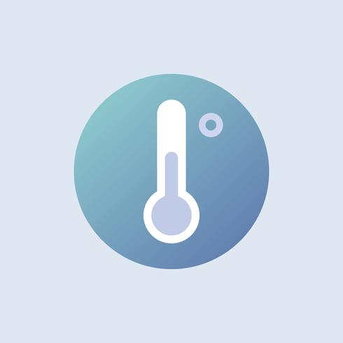 Thermometer icon vector in blue