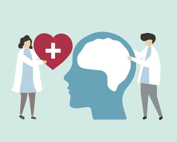 Psychische Gesundheit und Störung Abbildung