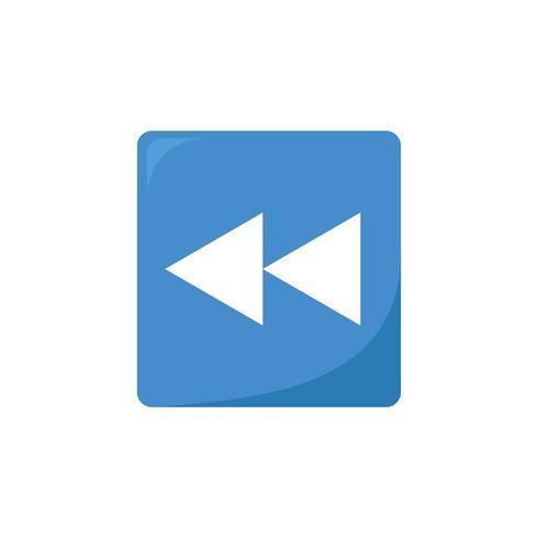 Ilustração, de, um, mídia, botão