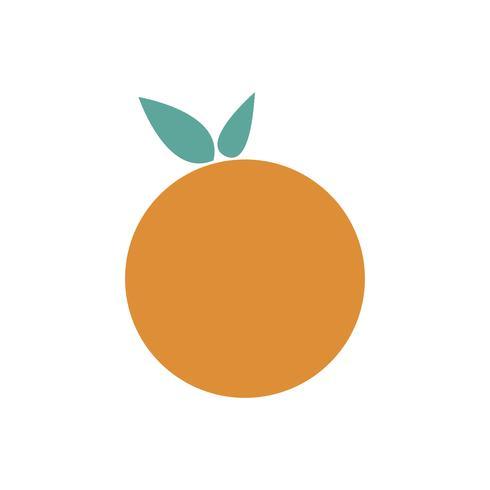 Solo ejemplo gráfico aislado naranja