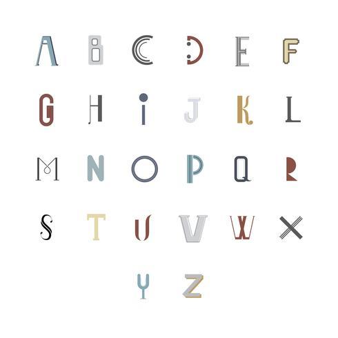 Den engelska alfabetet typografi illustrationen