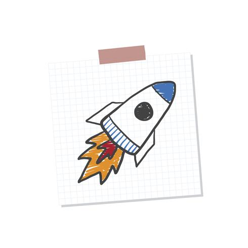Illustration de la note de démarrage de Rocketship