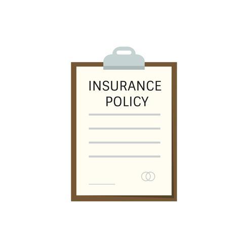Försäkringspolicy urklipp grafisk illustration