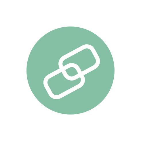 Icona del collegamento a catena sull'illustrazione del grafico del cerchio verde
