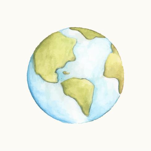 Illustratie van de aarde