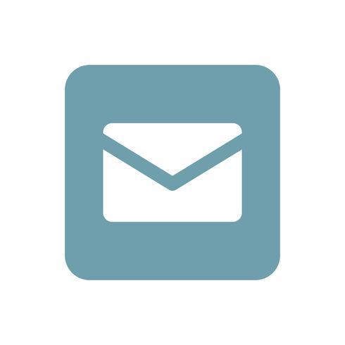 Mail på blå fyrkantig grafisk illustration
