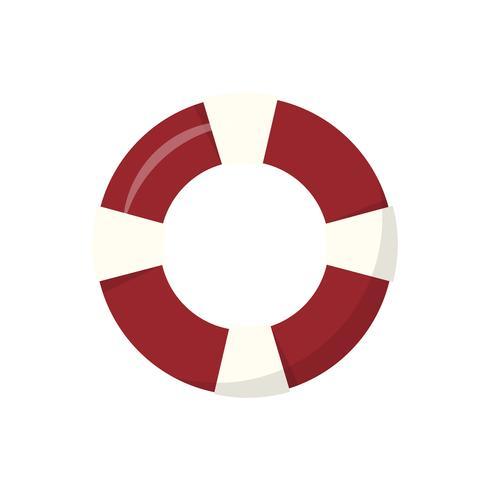 Röd badring isolerad grafisk illustration