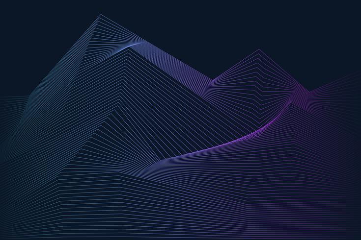 Dynamischer Wellenmustervektor der Datenvisualisierung