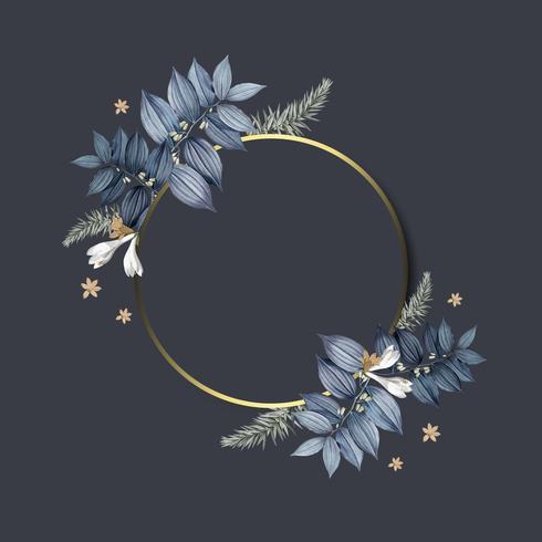 Blank floral frames