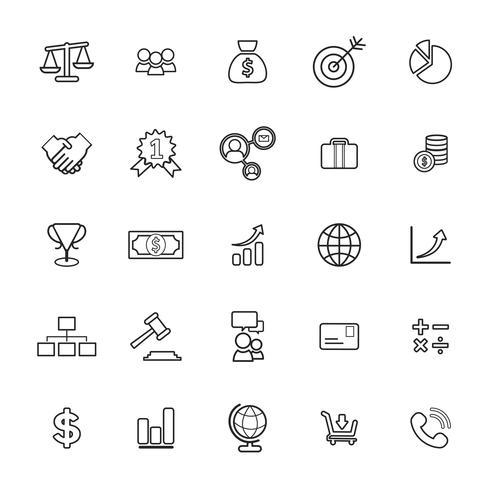 Illustration av finansiella ikoner