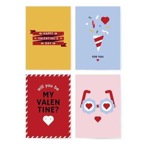 Alla hjärtans dag kortdesign