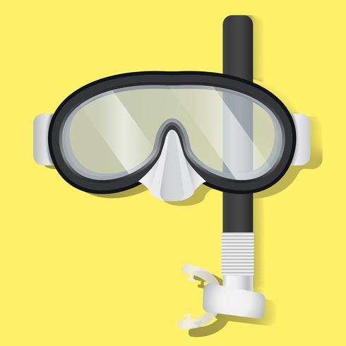 Schnorcheln Unterwasseratemgerät-Masken-Tauchausrüstungs-Vektor-Illustration