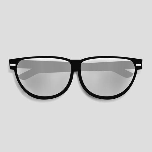 Eyewaer-Glasvektor-Illustrationsikone