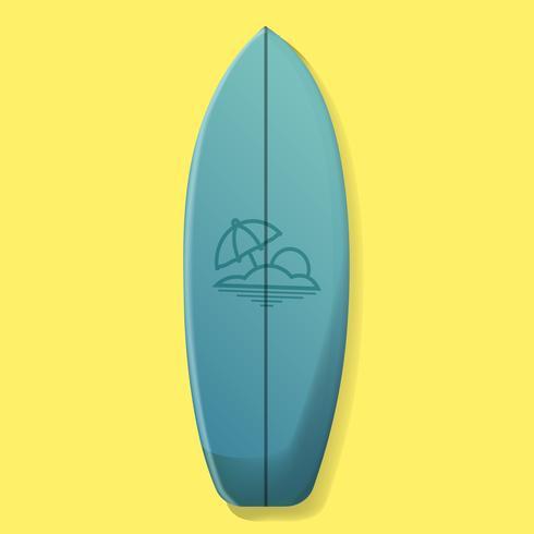 Blaue Surfbrett-Vektor-Illustration vektor