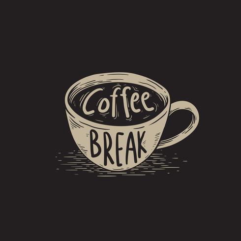 Koffiepauze vector