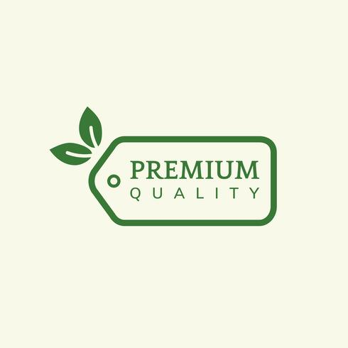 Premium quality product label illustration