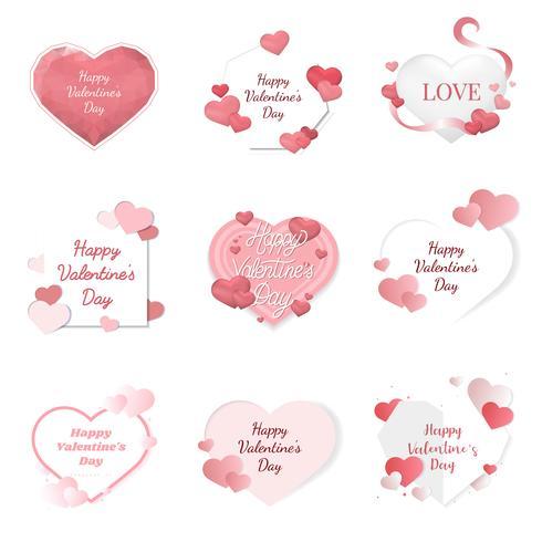 Alla hjärtans dag illustration ikoner