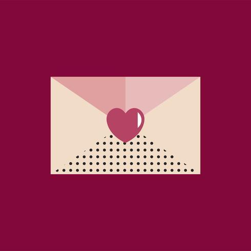 Valentinsgruß-Tagesikonen-Konzept