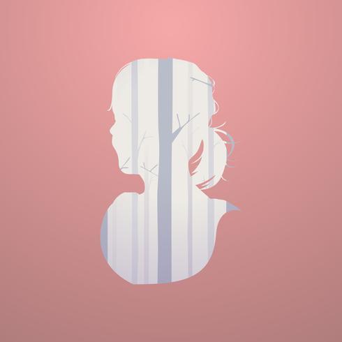 Illustratie van menselijk silhouet