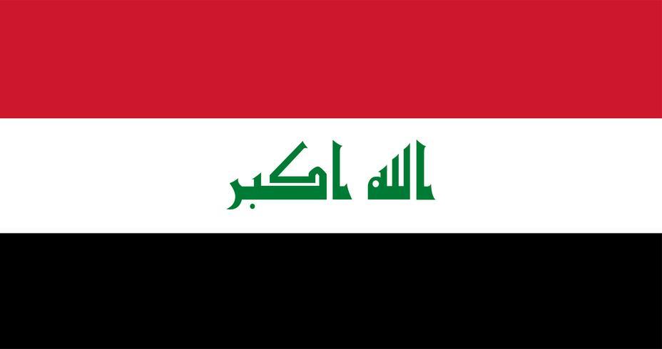 Illustration of Iraq flag