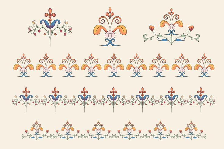 Vintage Flourish Ornament Abbildung