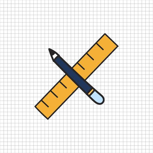 Vector of stationery doodle style