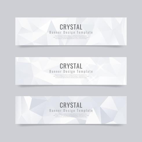 Coleção de plano de fundo texturizado cristal vetor