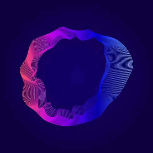 Ilustração abstrata colorida linhas de contorno