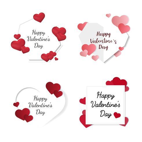 Ícones de ilustração de dia dos namorados