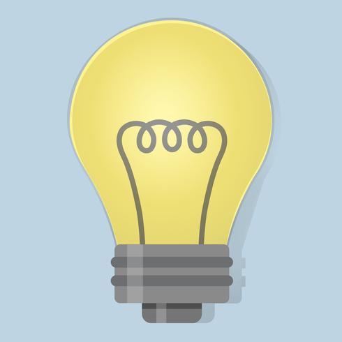 Glühlampeideenikonen-Illustrationsvektor