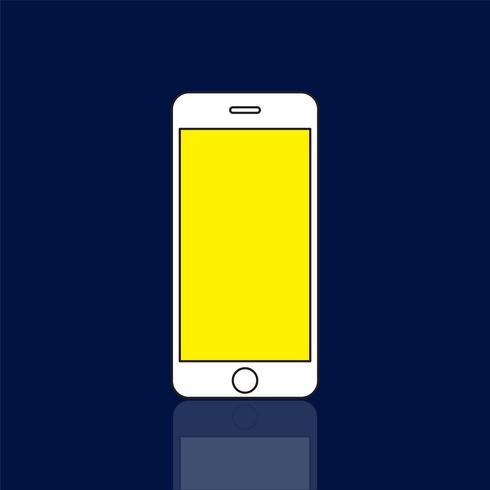 Illustration av mobiltelefon