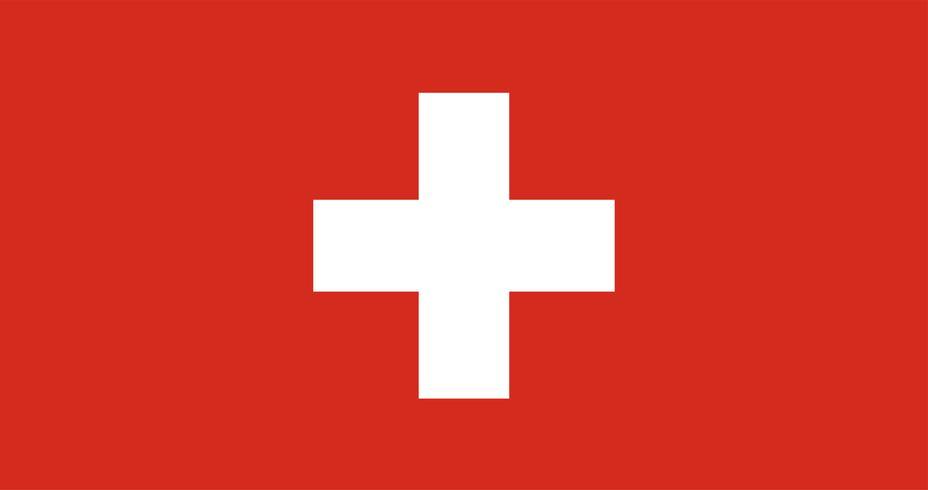 Illustratie van de vlag van Zwitserland