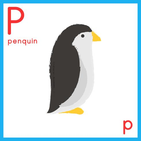Illustration de la lettre de l'alphabet avec photo d'animal