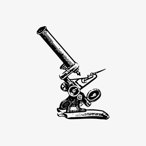 Microscopio en estilo vintage.
