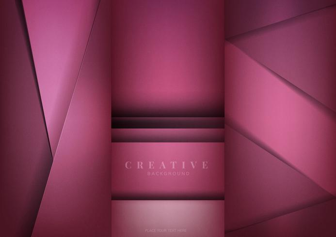 Set of abstract creative background designs in deep pink