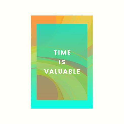 Le temps est précieux graphisme coloré