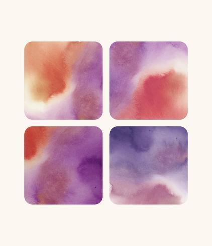 Vecteur de milieux aquarelle en forme de carré