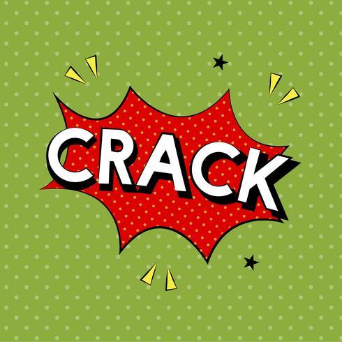 Illustration de style bande dessinée du mot crack