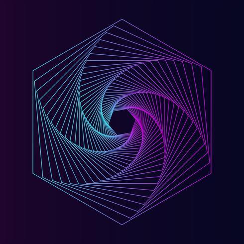 Vecteur élément géométrique abstrait hexagone