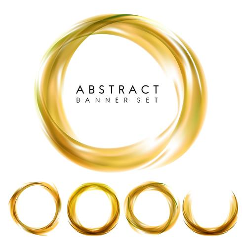 Abstract banner set in yellow