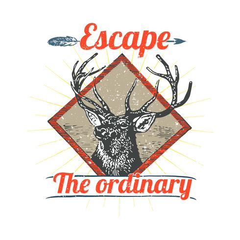 Ilustración de logotipo de ciervo salvaje