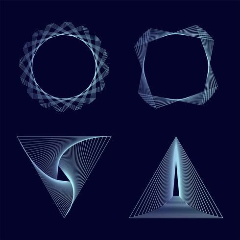 Sammanfattning geometriska element sätta vektor