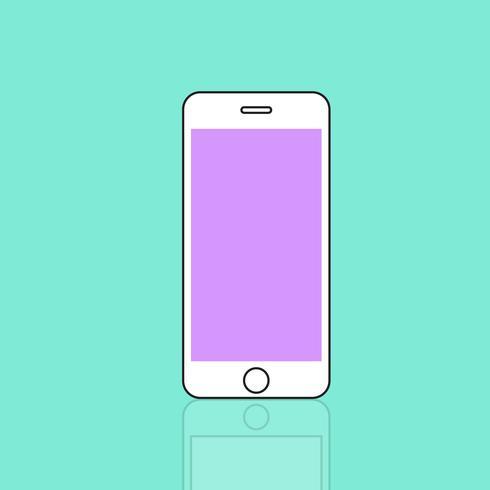 Ilustración de teléfono móvil aislado