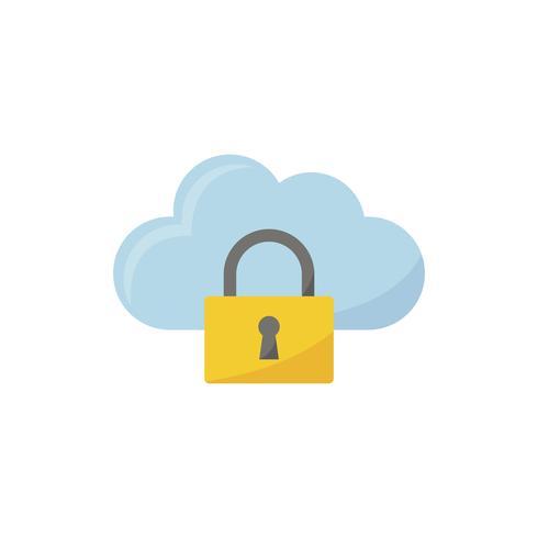 Illustrazione dell'icona di sicurezza cloud