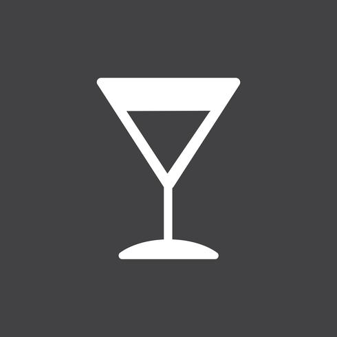 Martini cocktail icon illustration