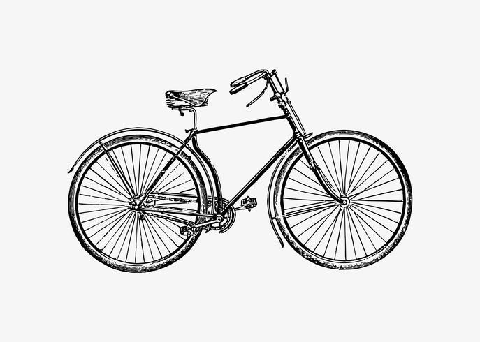 Diseño vintage de bicicleta