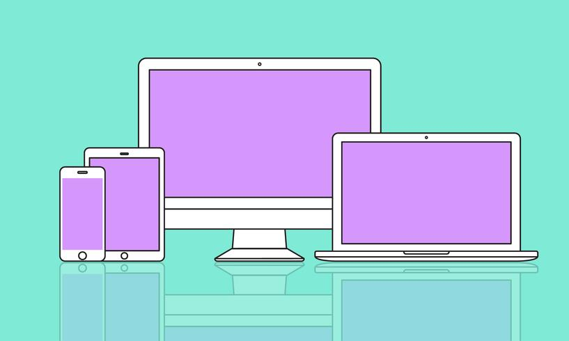 Illustration d'appareils numériques isolés
