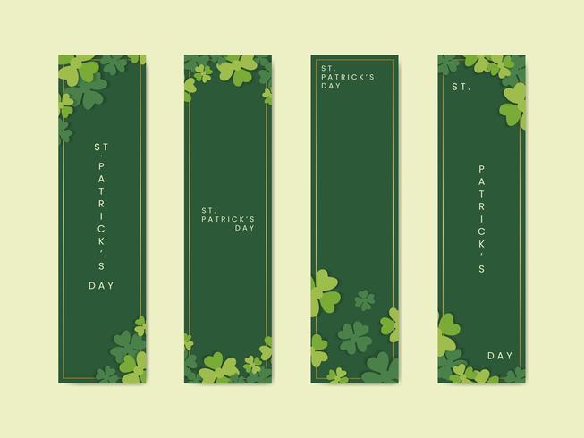 Banners do dia de Saint Patricks